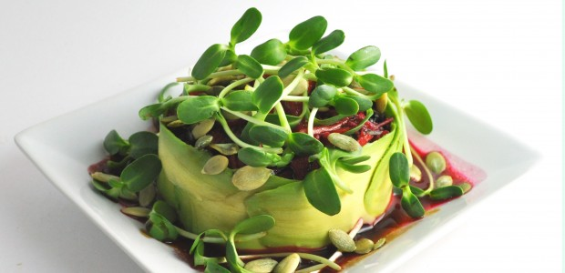 Avocado Wrapped Salad from Extraordinary Vegan