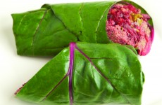 raw beet wrap 1 cut
