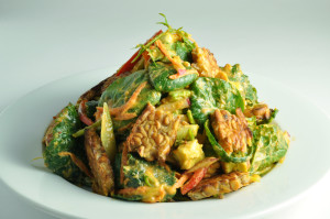 Asian Greens with Penang Curry and Tempeh